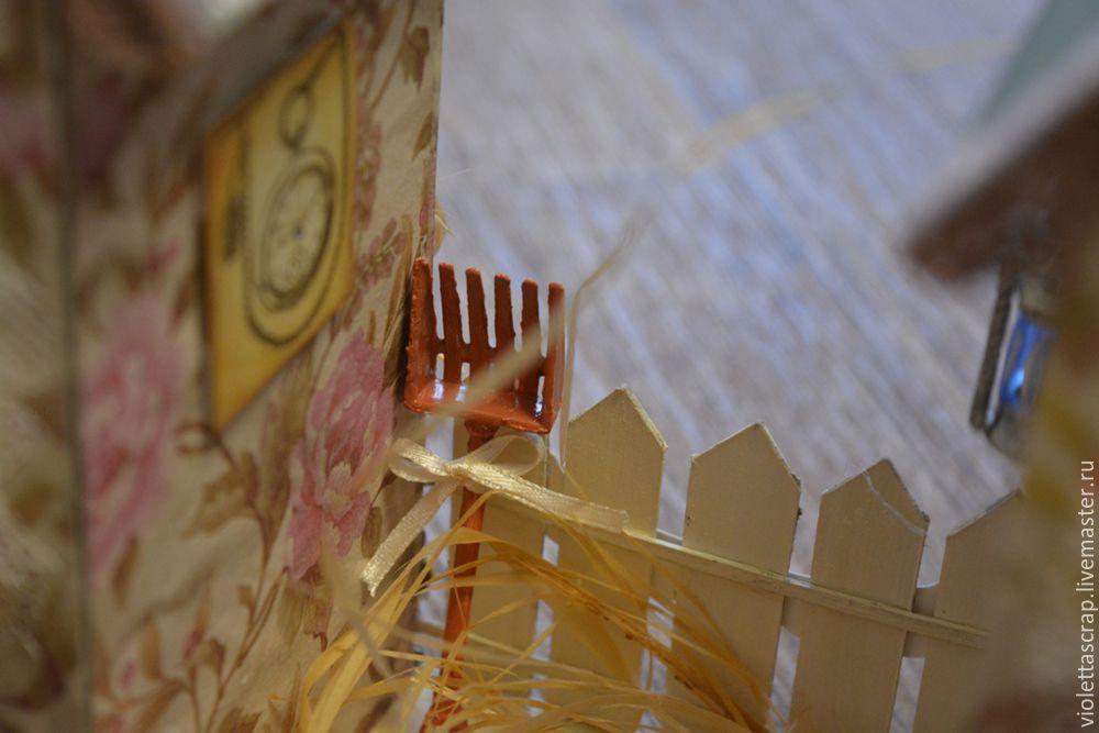 Мастер-класс: изготавливаем дуэт из чайных домиков с конфетницей, фото № 16