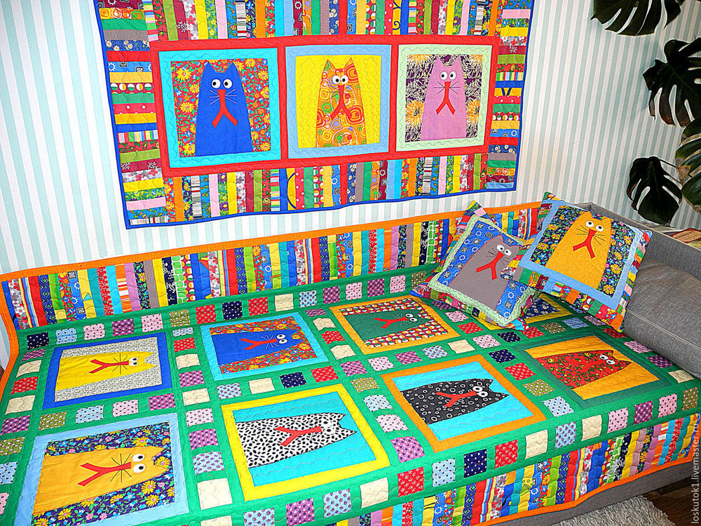 подарок детям, одеяло детское, лоскутная аппликация