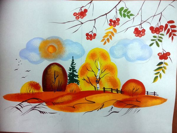 Видео мастер-класс: осень в декоративном пейзаже | Ярмарка Мастеров - ручная работа, handmade
