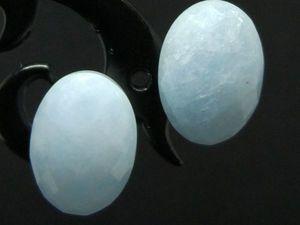 Серьги аквамарин натуральный серебро 925. Ярмарка Мастеров - ручная работа, handmade.