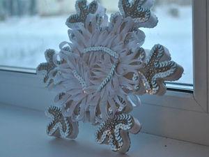 Новогодняя «Снежинка» для праздничного декора. Ярмарка Мастеров - ручная работа, handmade.