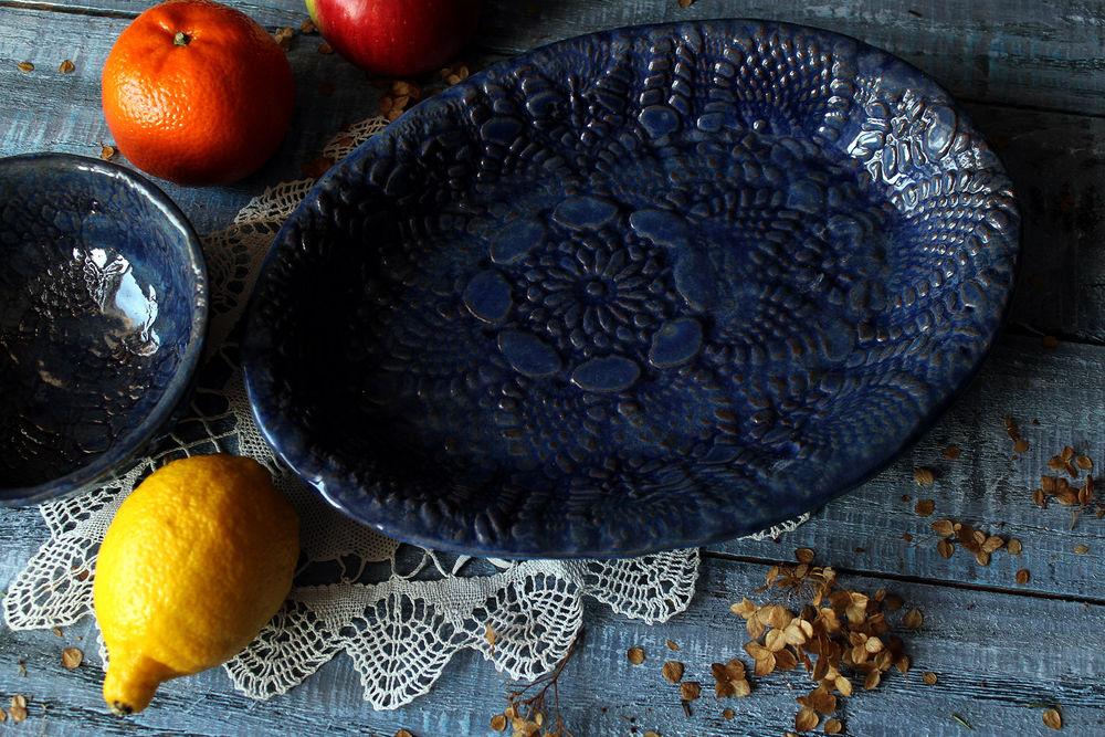 глиняные бусы, авторские бусы, салатник из глины, подарок девушке, авторские салатники, подарок женщине, кружевная посуда, праздничная посуда, колье керамическое