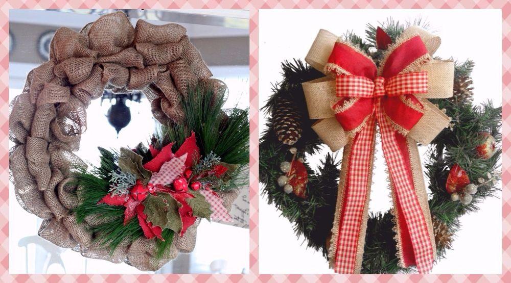 мешковина, рождественский декор, кантри