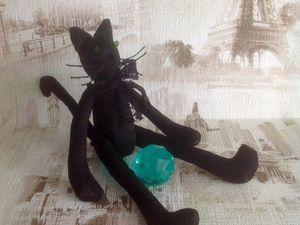 Видеообзор Текстильный черный кот. Ярмарка Мастеров - ручная работа, handmade.