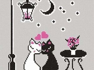 Вышивка крестом Влюбленные котики. Ярмарка Мастеров - ручная работа, handmade.
