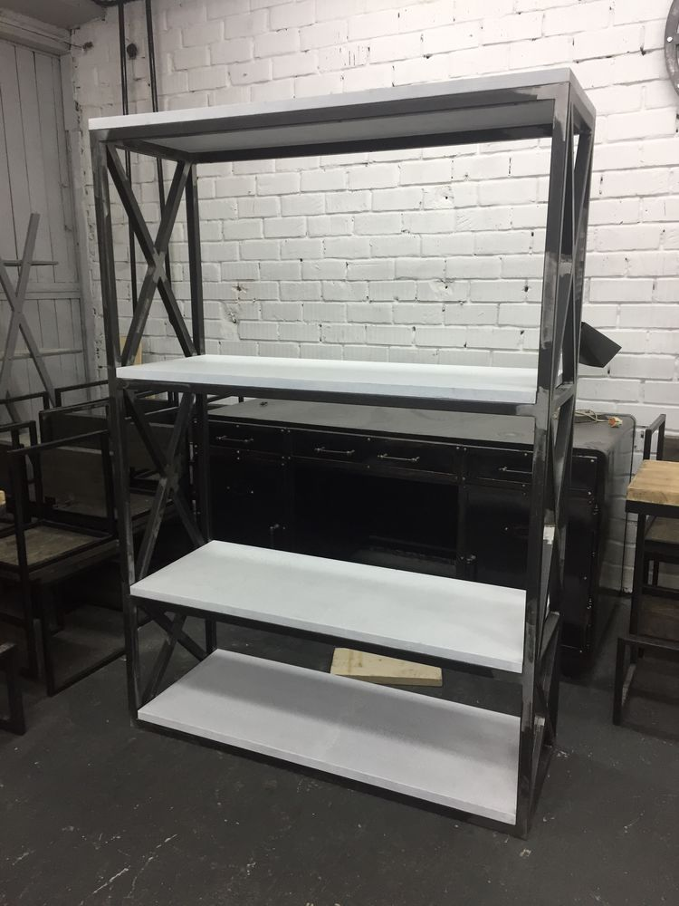 мебель лофт, мебель из металла, мебель на заказ, стеллаж лофт, стеллаж из металла
