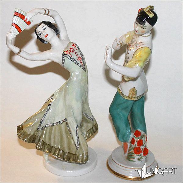 фарфоровая статуэтка, винтаж, балет, винтажные вещи, скульптура