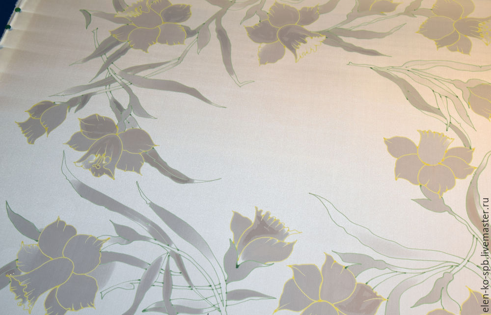 silk painting, silk scarf