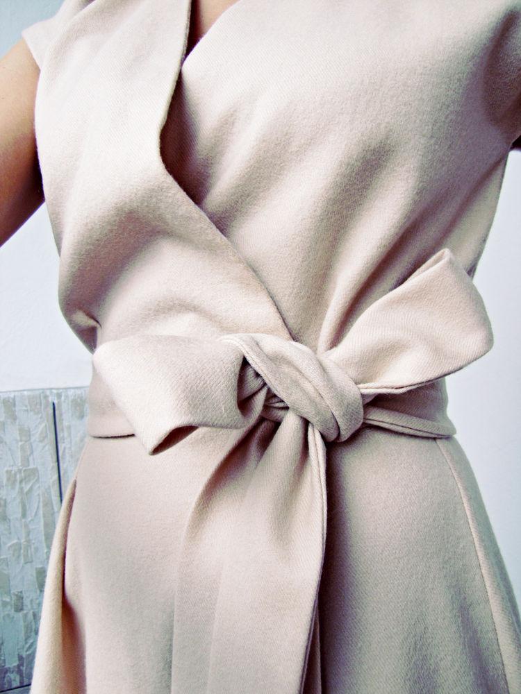 длинное платье, платье с завязками, бежевый