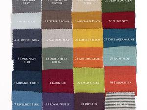 Цветовая палитра льна — 2018. Ярмарка Мастеров - ручная работа, handmade.
