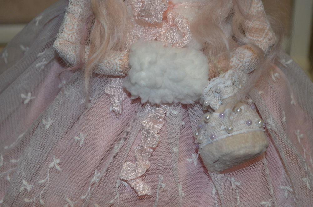 новый год, кукла в подарок, зимняя сказка, шебби-шик