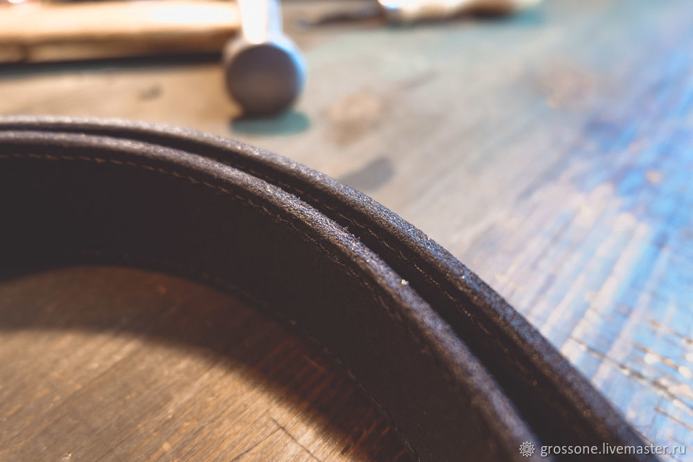 Step-by-step Tutorial for a Stitched Belt of English Bridle Leather, фото № 20