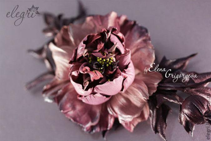 цветоделие, обучение цветы из кожи, подарок своими руками
