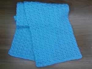 Видео мастер-класс: вяжем крючком голубой шарфик для девочки. Ярмарка Мастеров - ручная работа, handmade.