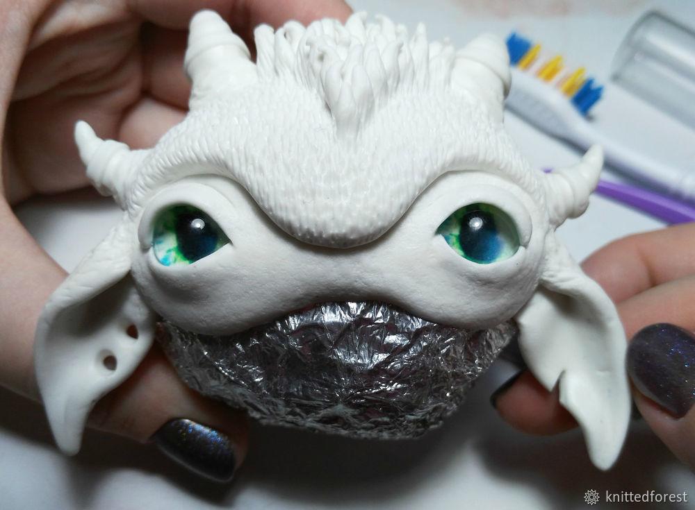 Процесс создания авторской игрушки из полимерной глины. Часть 1. Лепка мордочки, фото № 37