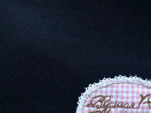 Наша новинка: Индиго. Футер 3-х нитка гладкокрашеный с начесом. Ярмарка Мастеров - ручная работа, handmade.