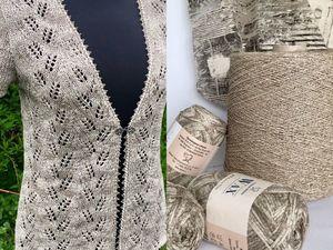 Пример работы из пряжи Wax и льна. Ярмарка Мастеров - ручная работа, handmade.