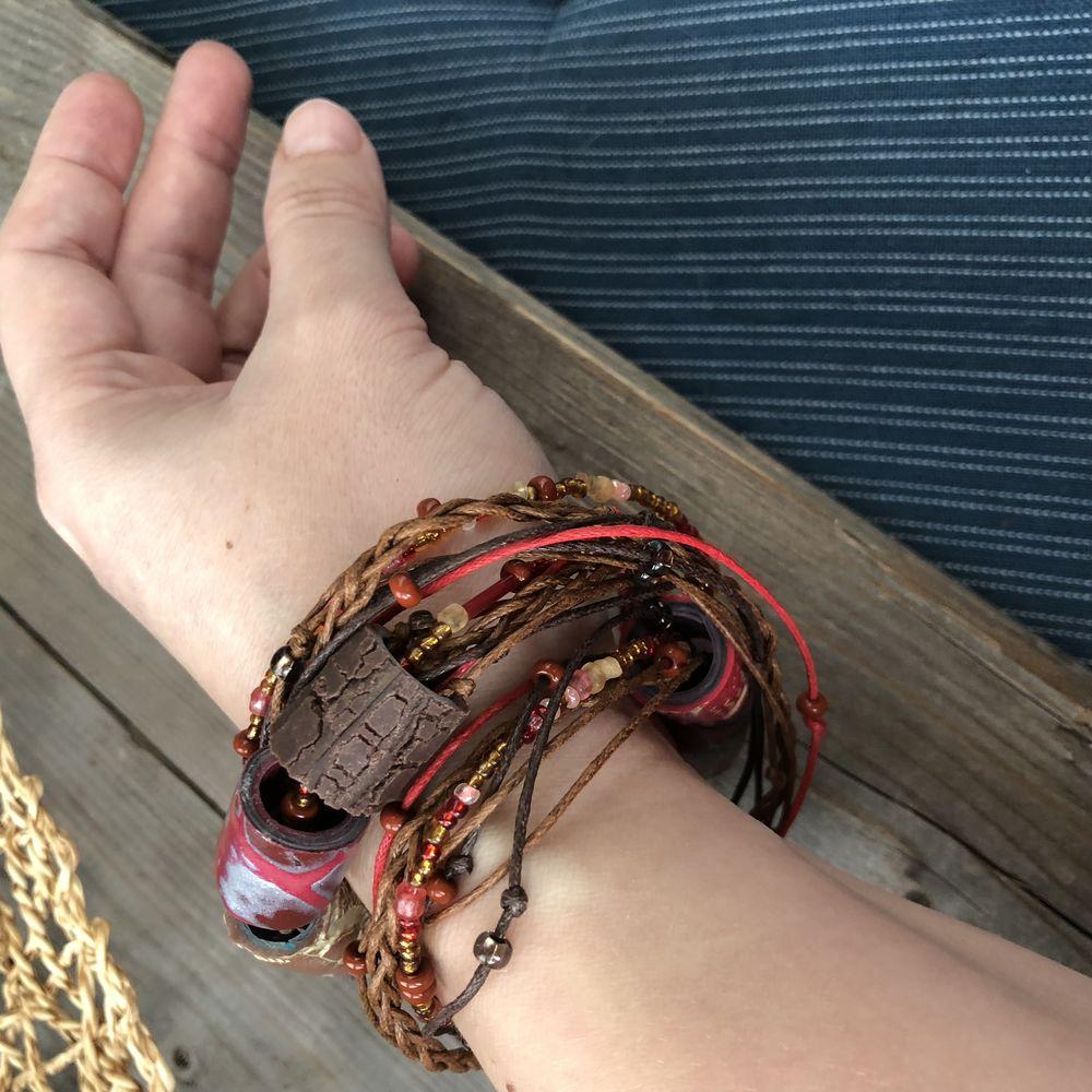 браслет-трансформер, украшение на шею, лиловый, этнические украшения