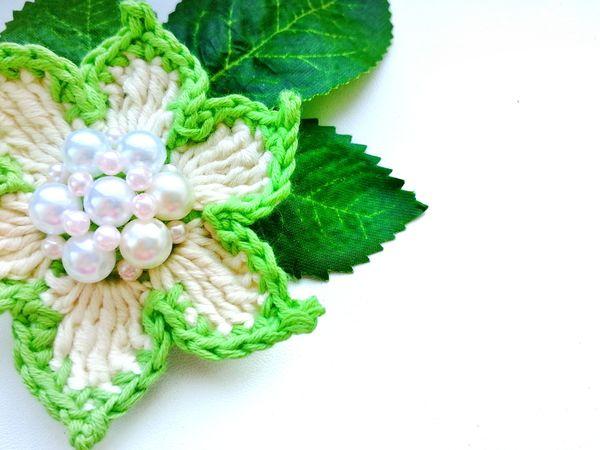 Вяжем цветы крючком. Ярмарка Мастеров - ручная работа, handmade.