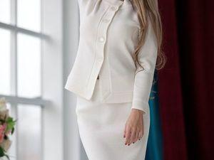 Аукцион на вязаный костюм большого размера!!!Старт 2000 рублей !!!. Ярмарка Мастеров - ручная работа, handmade.