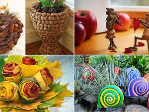 Осенние поделки  и поделки из природного материала. Ярмарка Мастеров - ручная работа, handmade.