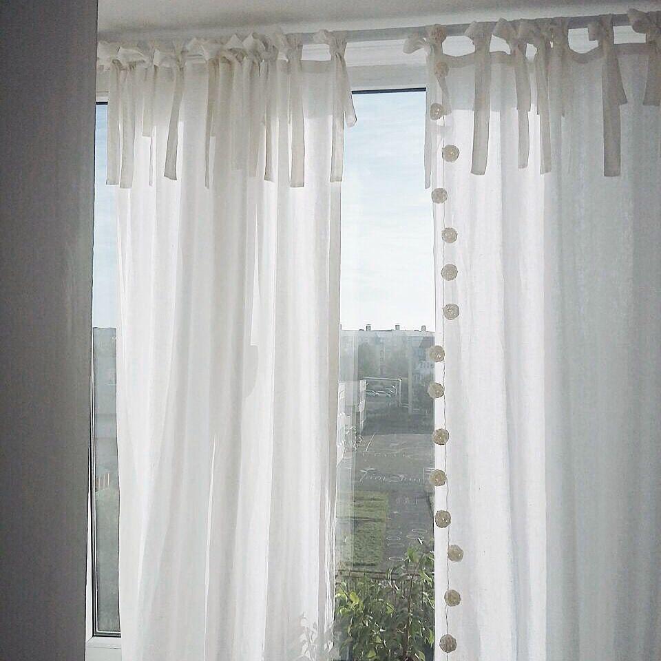 шторы на завязках, ярмарка мастеров, скандинавский стиль, серые шторы