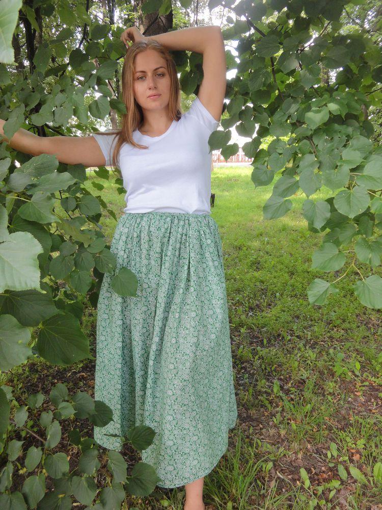 юбка в сборку