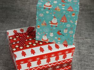 Новогодняя упаковка в подарок. Ярмарка Мастеров - ручная работа, handmade.