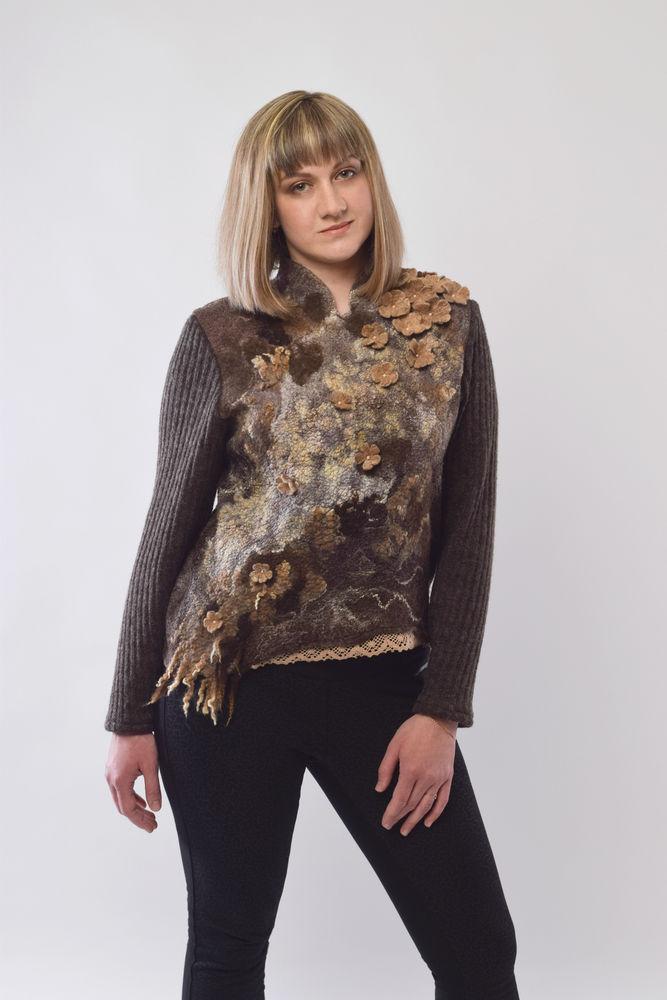 свитер валяный