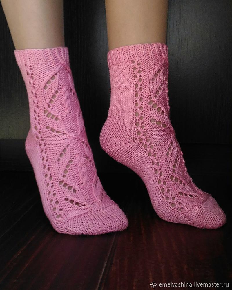 видео мастер класс вяжем спицами ажурные носки мастер класс для