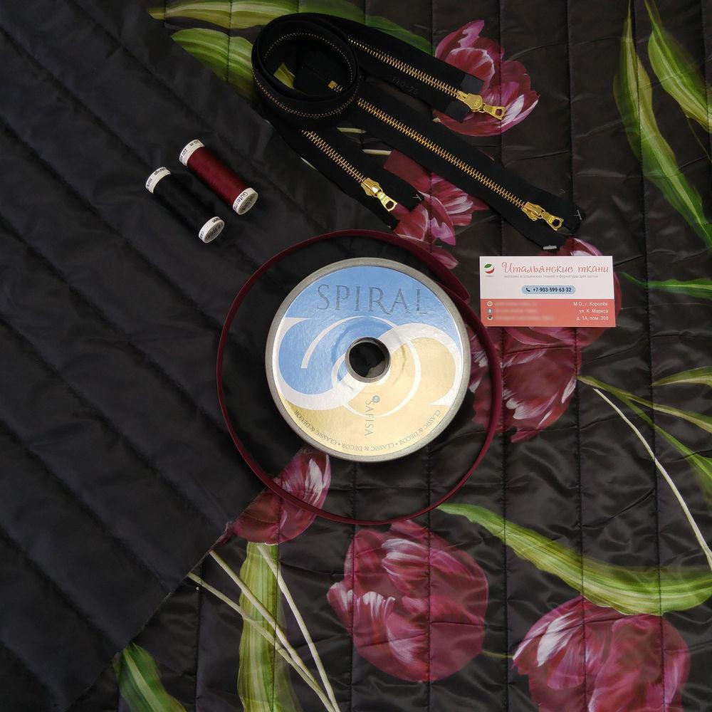 ткани италия, итальянские ткани, пальто, тюльпаны, цветочный принт, осень, осень-зима