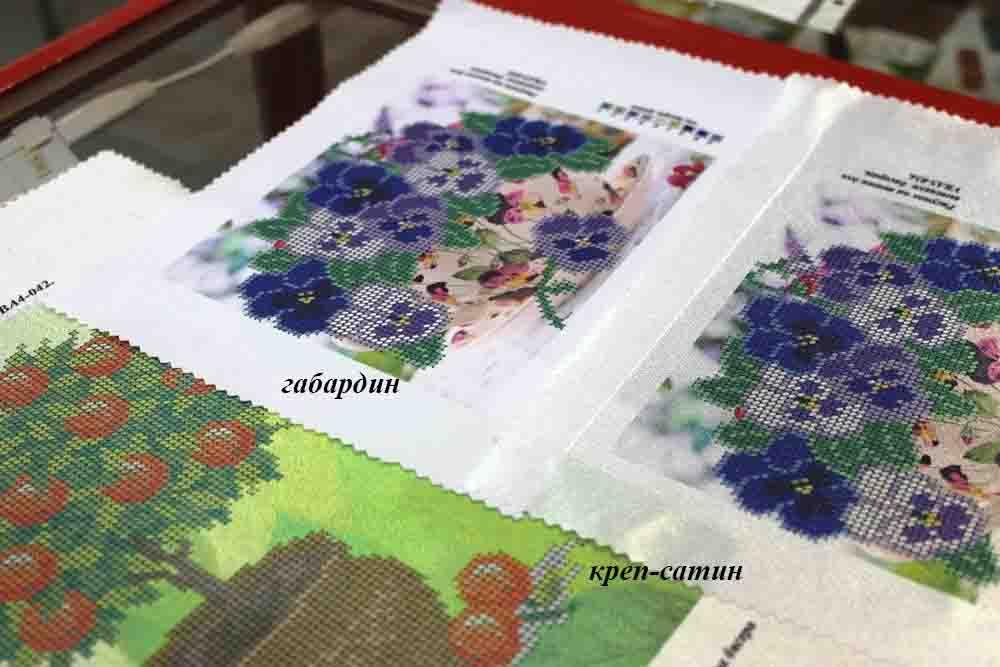 вышивка бисером, бисер, рисунок на ткани, креп-сатин, сатин, схема вышивки