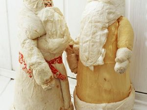 Отреставриовала двух Дедушек Морозов. Ярмарка Мастеров - ручная работа, handmade.