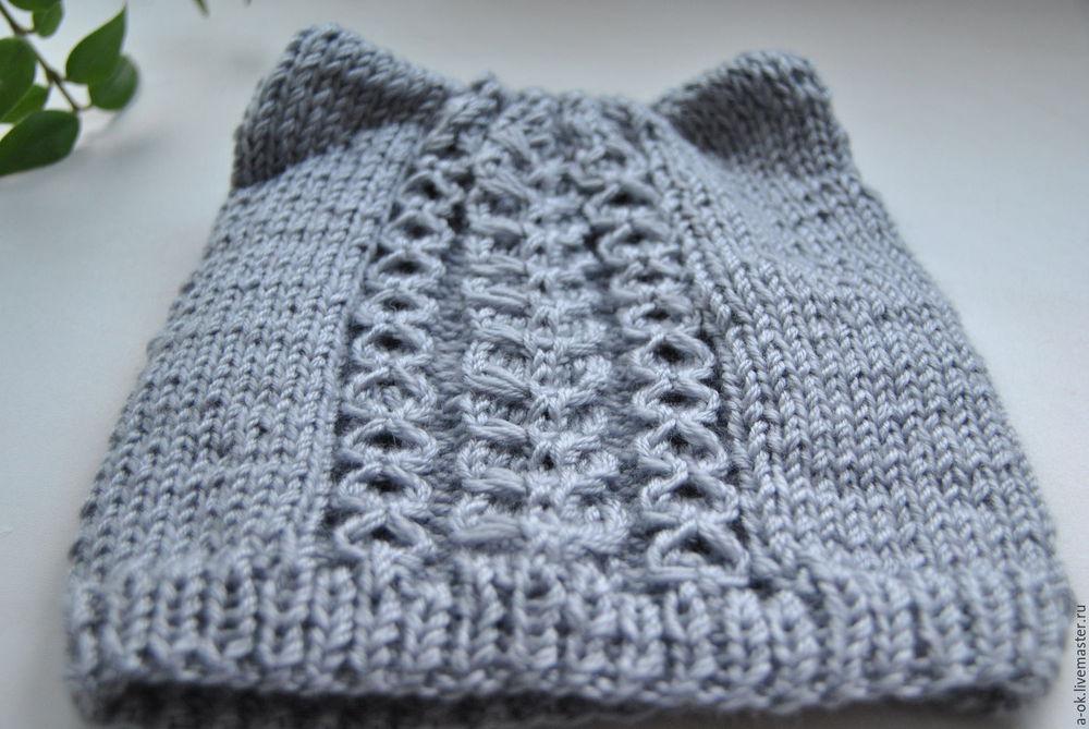 шапка весенняя, весеннее вязание