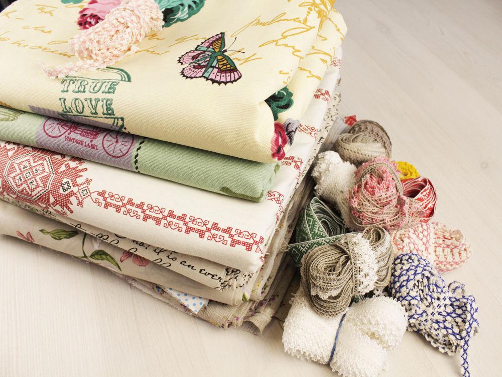 ткани, ткань для рукоделия, тесьма