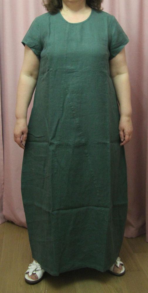 льняное платье, лён, 58 размер, платье 58 размера