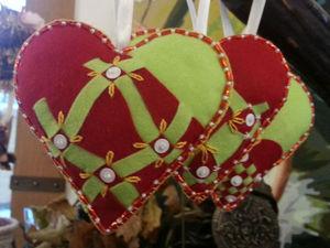 Шьем оригинальные фетровые сердца | Ярмарка Мастеров - ручная работа, handmade