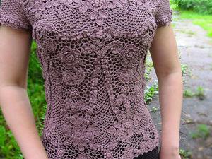 Ирландское кружево. Блуза цветущий сад. | Ярмарка Мастеров - ручная работа, handmade