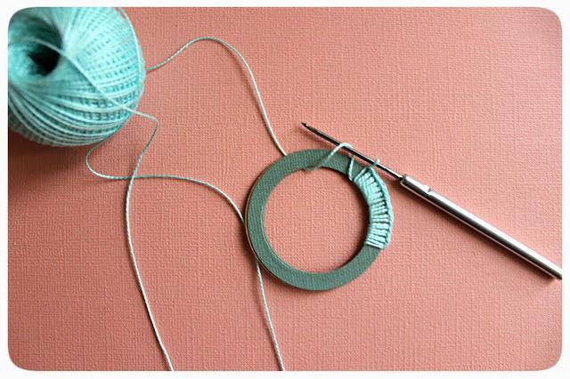 вязание крючком, мята