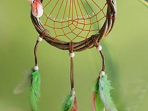 Weaving a Summer Dew Dream Catcher. Livemaster - handmade