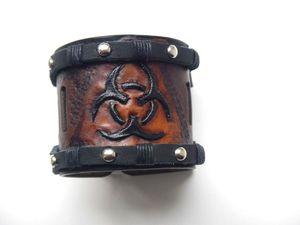 Делаем кожаный браслет «Биохазард » — от задумки к реализации. Ярмарка Мастеров - ручная работа, handmade.