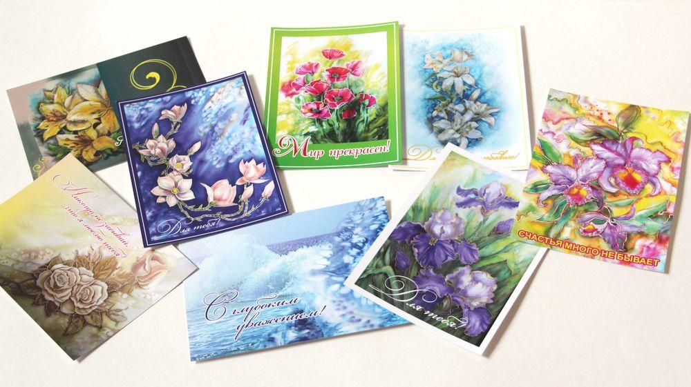наборы для открыток цветы она меня