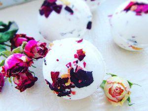 Как сделать бомбочки для ванны с лепестками роз. Ярмарка Мастеров - ручная работа, handmade.