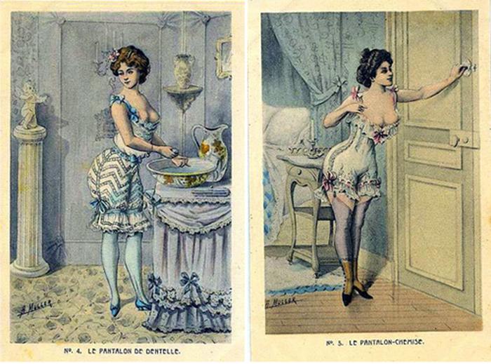 Элегантное дамское бельё конца 19-го века.