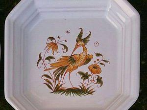 Сегодня скидка 50% на посуду с росписью Mustiers   Ярмарка Мастеров - ручная работа, handmade