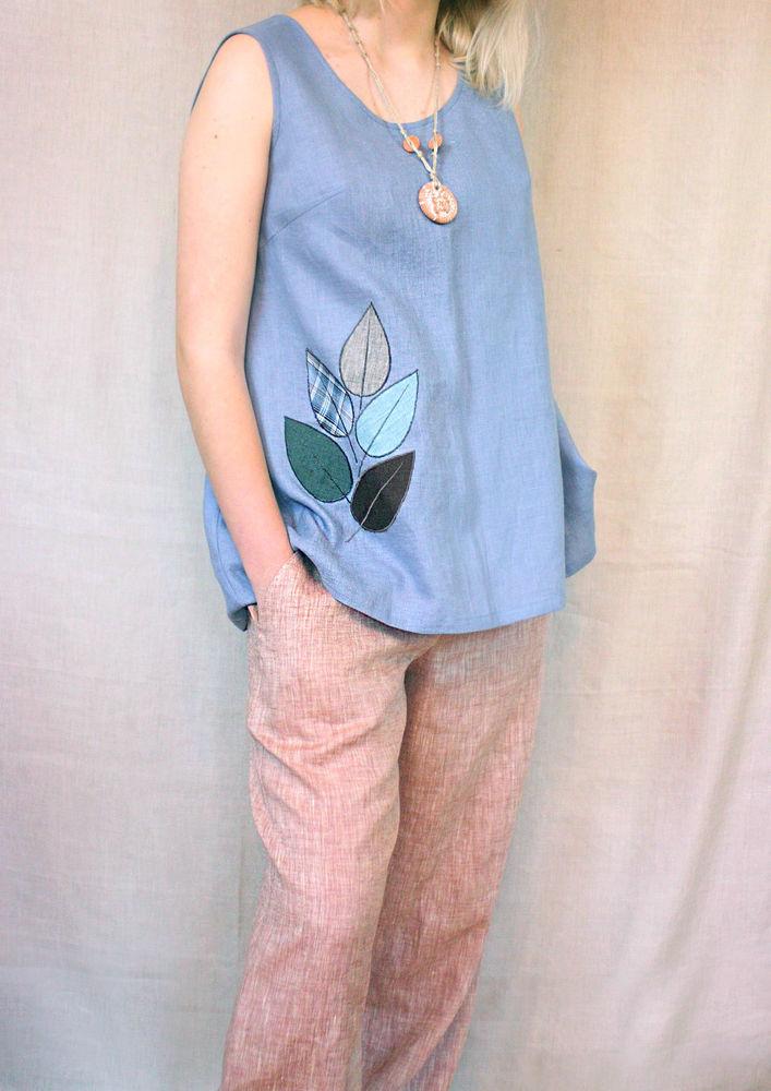 женские брюки, flax pants