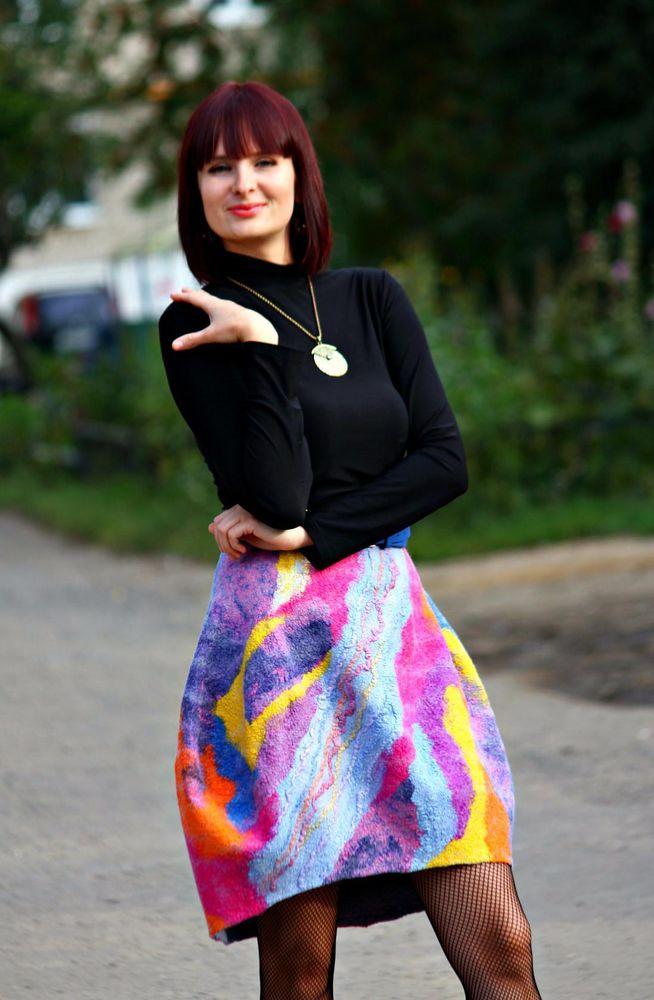 Валяная юбка с карманами. Мастер-класс Ирины Федотовой.Москва., фото № 2