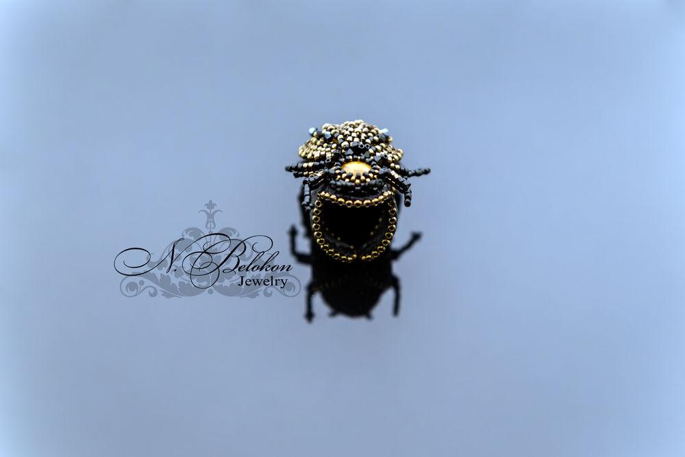 кольцо жук