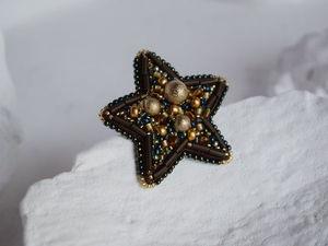 Видео брошь из бисера звезда Galaxy. Ярмарка Мастеров - ручная работа, handmade.