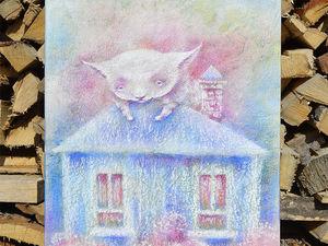 Белый котенок ищет дом!. Ярмарка Мастеров - ручная работа, handmade.